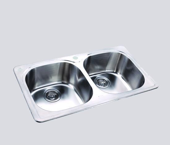 得而达双槽不锈钢水槽(三孔)SS12009-ASS12009-A