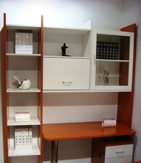 诺捷书房家具-电脑桌7E501-R+7E6027E501-R+7E602