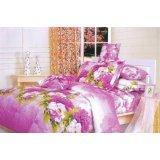 夜雅家纺牡丹花语-紫活性印染四件套