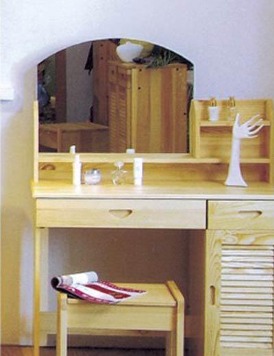 香柏年实木家具梳妆凳D01D01