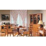 树之语艾丁堡柏木系列FS8073圆餐桌+FS8067餐椅