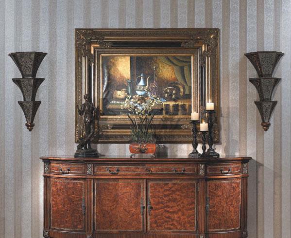大风范家具路易十六餐厅系列LV-750-4四门餐备柜LV-750-4四门餐备柜