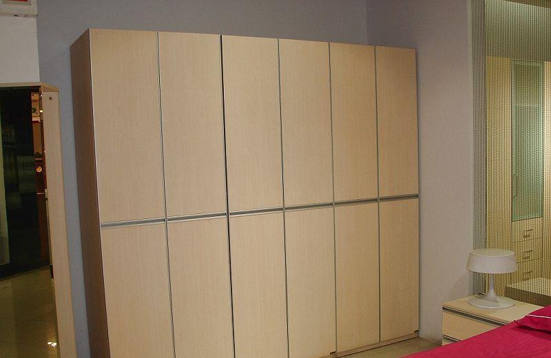 诺捷卧室家具衣柜六门衣柜6A210白枫6A210