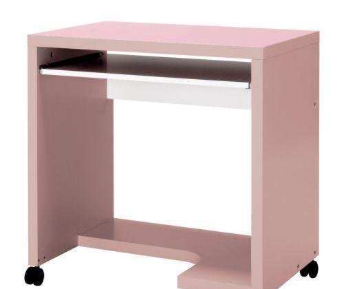 宜家附脚轮电脑桌麦克尔(淡粉红色/白色)麦克尔(淡粉红色/白..