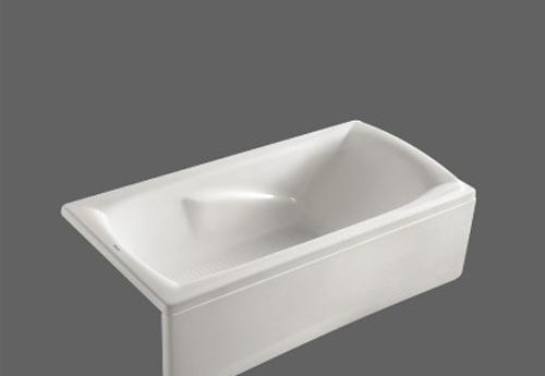 美加华压克力单裙浴缸M-1518Q(塑料浴缸去水1个)M-1518Q