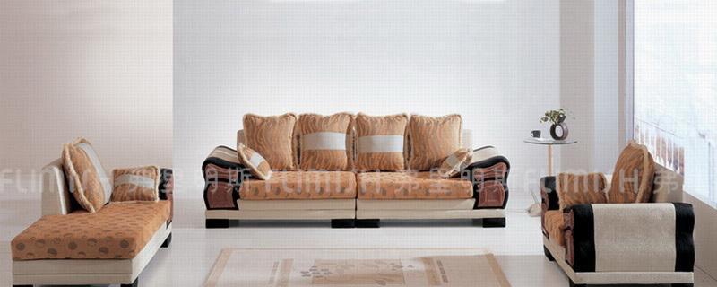 弗里明斯B115大款皮配布沙发B115