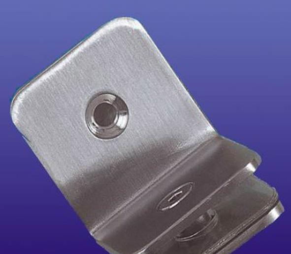 富力玻璃90度不锈钢方形夹(单面)B019B019