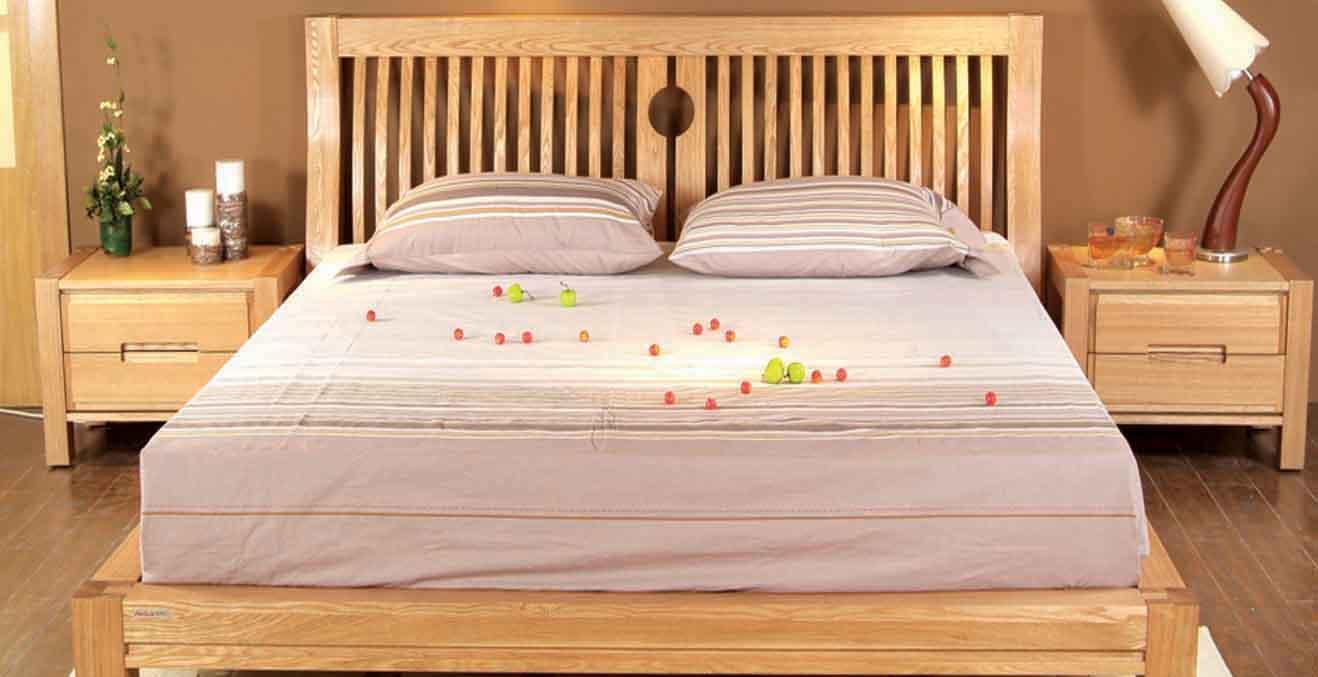 树之语全实木水曲柳原木系列A-双人床1#1.8MA-双人床1#1.8M