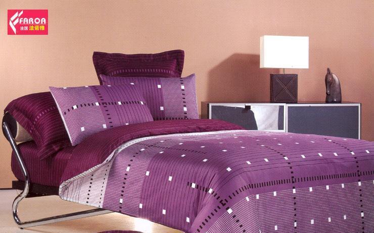 法诺雅大被套床上用品四件套全棉斜纹田园风格活LYH02
