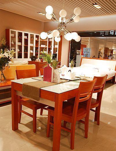 诺捷餐厅家具餐桌1300*860*760mm红樱桃