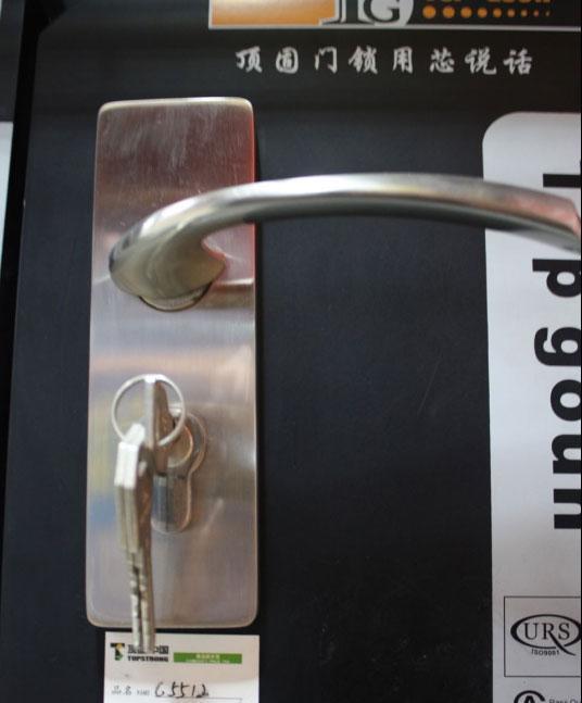 顶固B系列B5512SN锌合金中弹子插芯门锁B5512SN