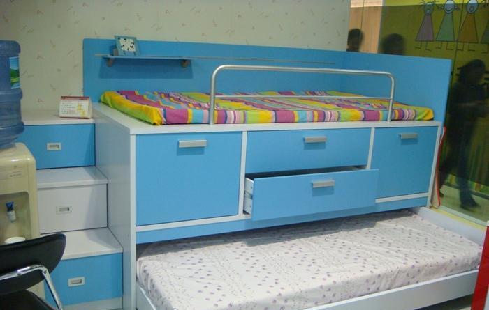 彩虹宝卧室家具-床(带楼梯)2#