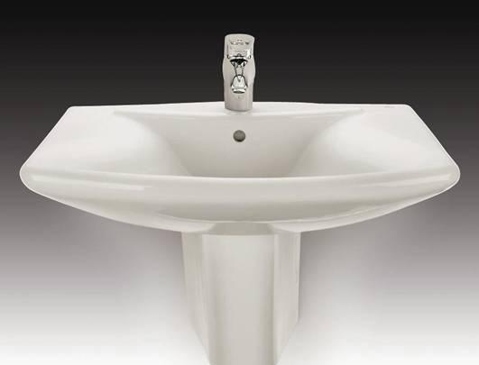 乐家卫浴雪梨系列半柱洗脸盆3-27382..13-27382..1