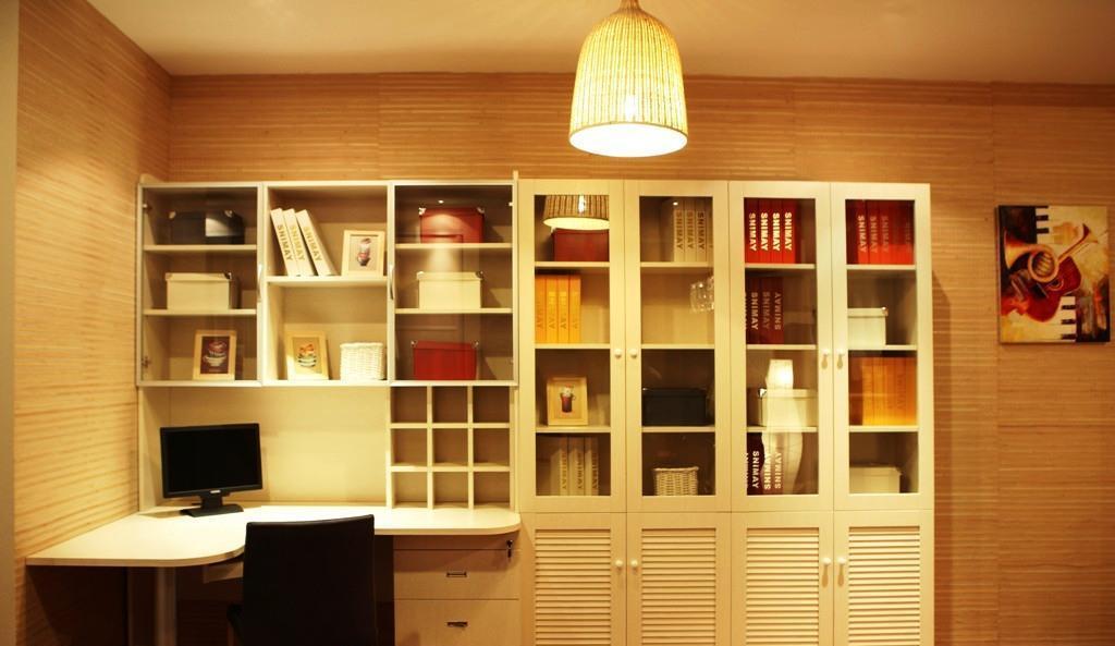 诗尼曼白橡整体书柜1白橡
