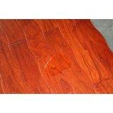 新绿洲9428DQF榆木多层曲线仿古地板(南国红豆色