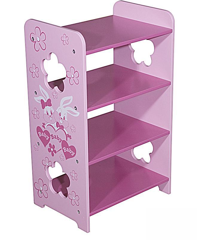 图图佳佳图图宝宝系列RJU00478四层储物架(粉色