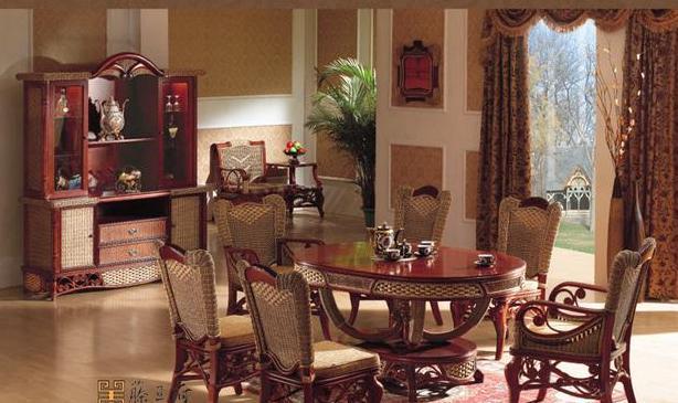 藤王府爱丽思餐厅系列903组合家具