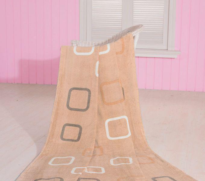 珑棉家纺印花珊瑚绒毯简约印花珊瑚绒毯简约