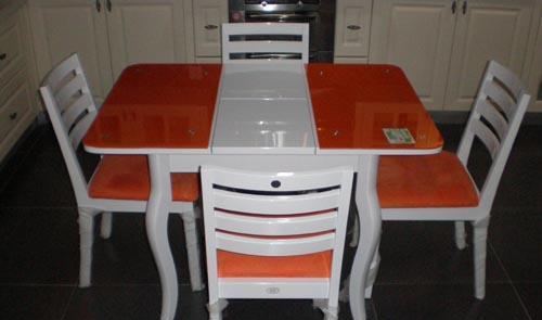 诗曼尔橱柜-伸缩玻璃桌系列伸缩玻璃桌系列