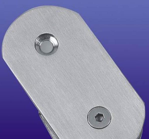 富力玻璃夹180度不锈钢半圆(单面)B008B008