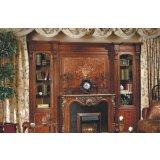 大风范家具路易十六书房系列LV-556组合书柜壁炉