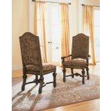 卡萨莫林诺(纯深棕色)-布艺软座餐椅,带扶手餐椅