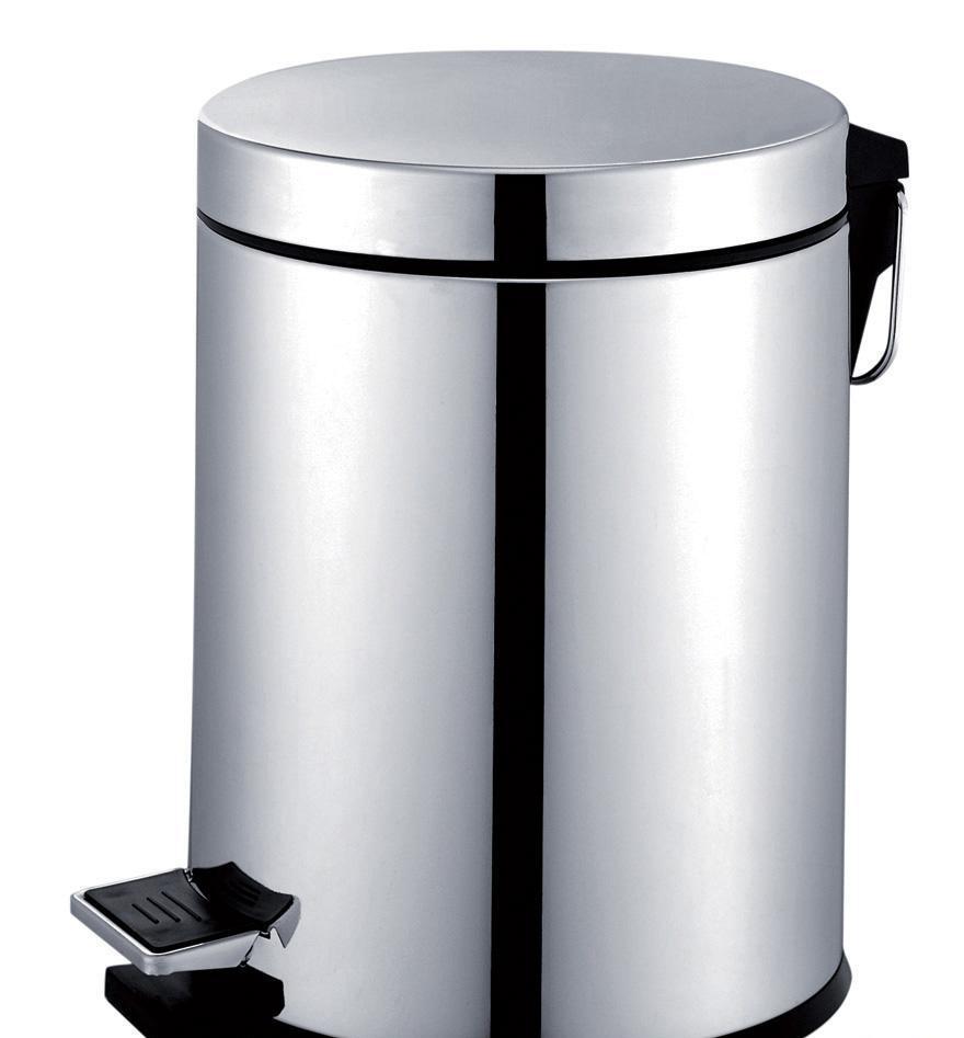 帝朗12升圆形不锈钢垃圾筒261068Z-12N261068Z-12N