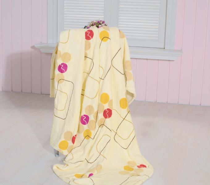 珑棉家纺印花珊瑚绒毯清新印花珊瑚绒毯清新