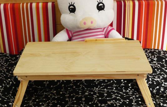 美好家本本桌电脑桌床上桌-松木加高松木加高