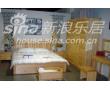 宜伟松木系列YW-UF-18床+床头柜+衣柜