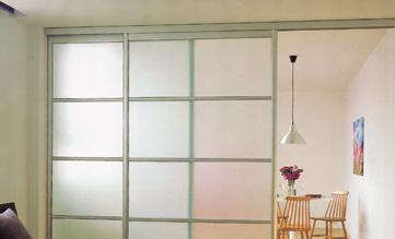 索菲亚衣柜无下轨隔断门配玻璃C6框C6框