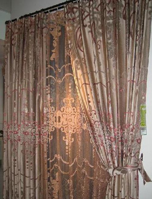 藤川布老虎红孔雀卧室客厅成品双层窗帘