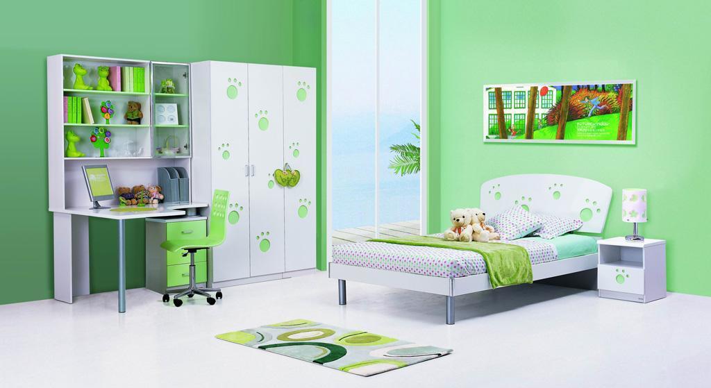 来之窗HY-673儿童床(粉绿色)