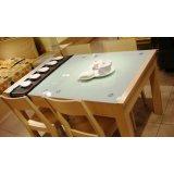 五木板式家具餐桌-WD66
