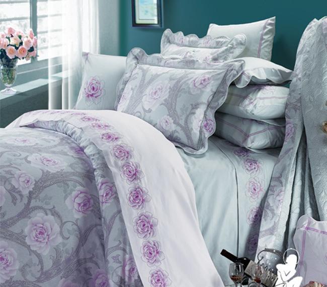 百丽丝5605-4全棉斜纹印花四件套-蓝色岁月5605-4