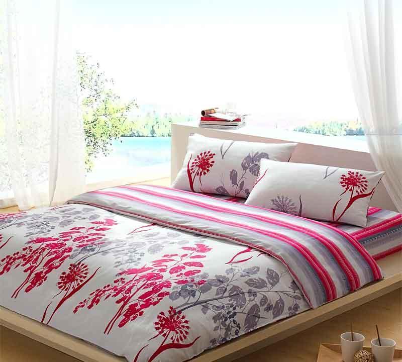 罗莱家纺双人全棉床单四件套丝滑系列-绽放绽放