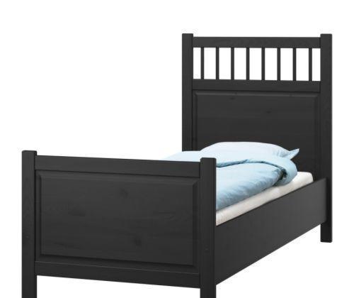 宜家床架-汉尼斯-黑褐色汉尼斯
