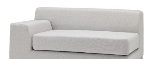 宜家带扶手左克莱弗(利斯德 淡灰色)双人沙发