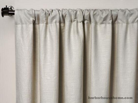 麻粘色织窗帘