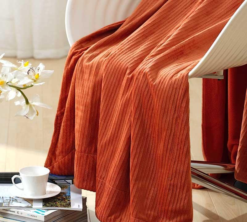 罗莱家纺超柔双面毯(橙色)超柔双面毯(橙色)