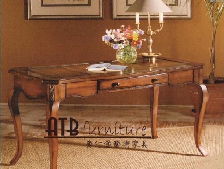 奥汀堡艺术家具阿瑞斯系列A87555美式家具书桌A87555