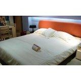 诺捷板式家具-双人床架6B013-B+6B010-B
