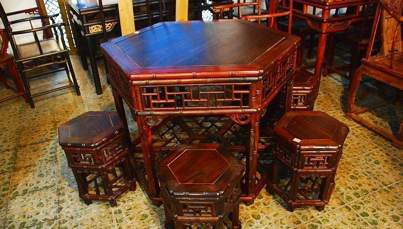 元亨利家具六角餐桌/椅E-S-0496-67