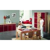 耐特利尔原橡木系列红色彩釉餐边柜-2