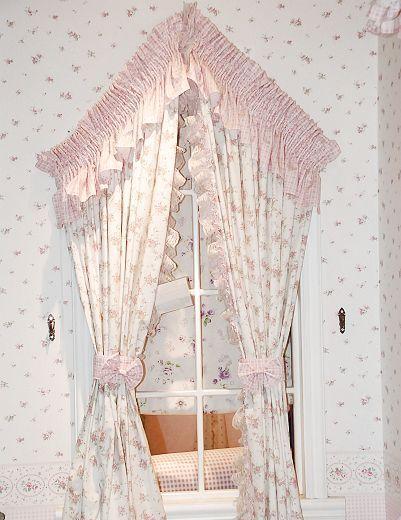 英伦美家粉小玫瑰窗帘A01-311(长)A01-311