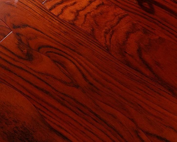新绿洲曲线多层系列黑核桃实木地板