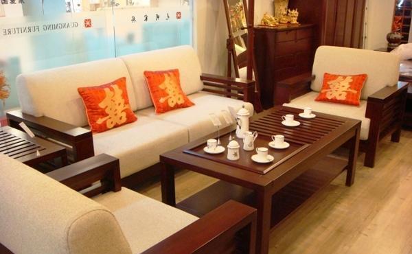 光明实木客厅家具系列-沙发001-3805-1960