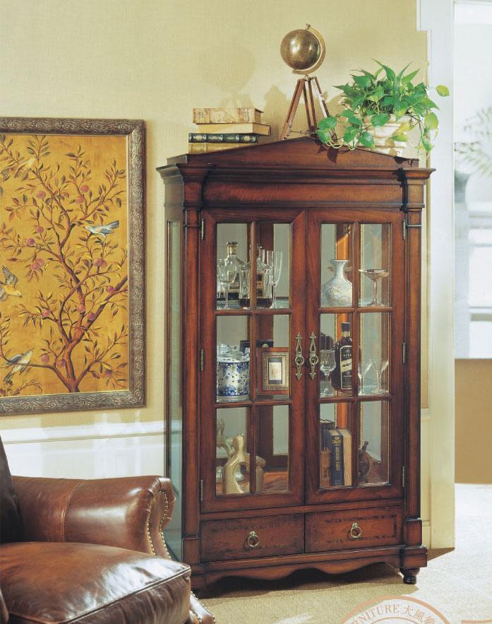 大风范家具低调伯爵客厅系列CL-651-2双门饰品柜CL-651-2双门饰品柜