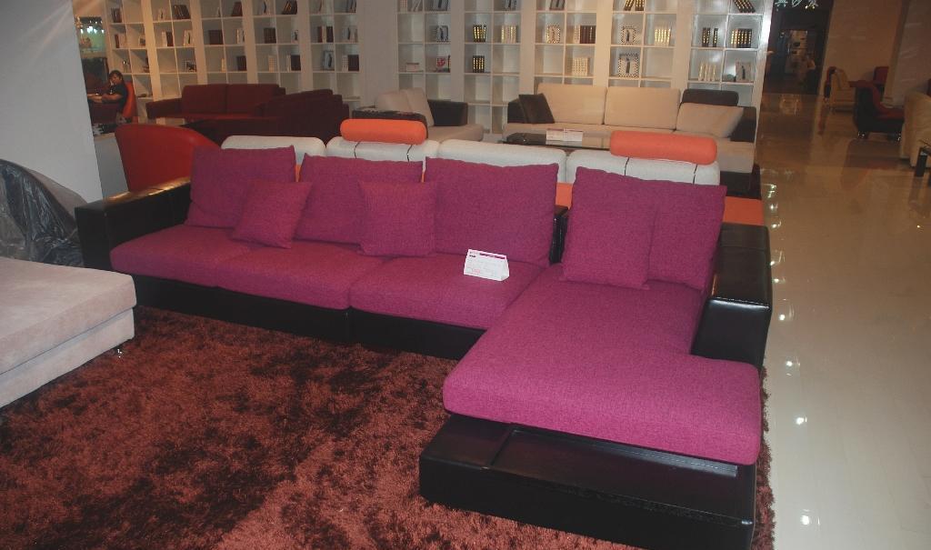 集美A-9001沙发1+3+贵妃塌+圆塌A-9001