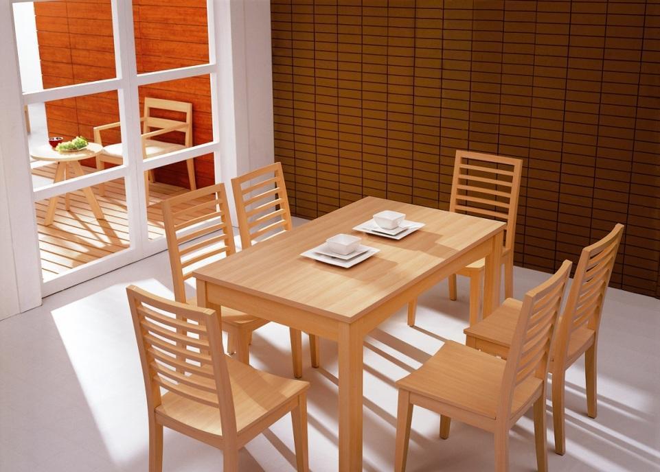 华源轩- 餐厅家具-白榉系列-餐台-T804T804